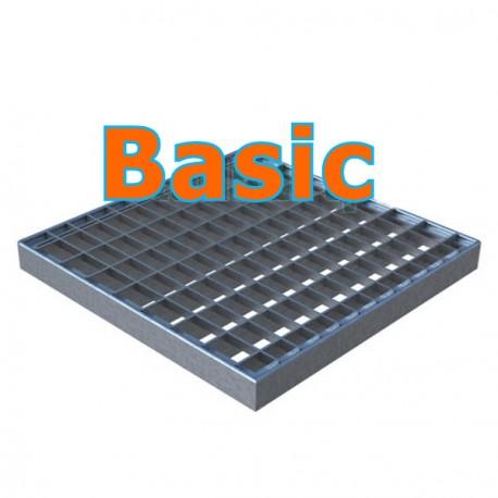 Решетка стальная ячеистая Basic к дождеприемнику 300х300