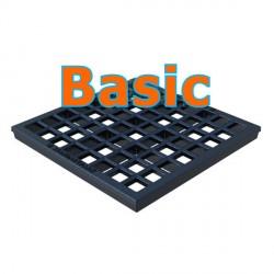 Чугунная решетка Basic 300х300 ячеистая