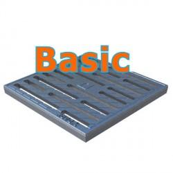 Чугунная оцинкованная решетка Basic 300х300 щелевая