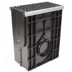 Пескоуловитель Profi Plastik DN200 пластиковый усиленный с чугунной решеткой (комплект)