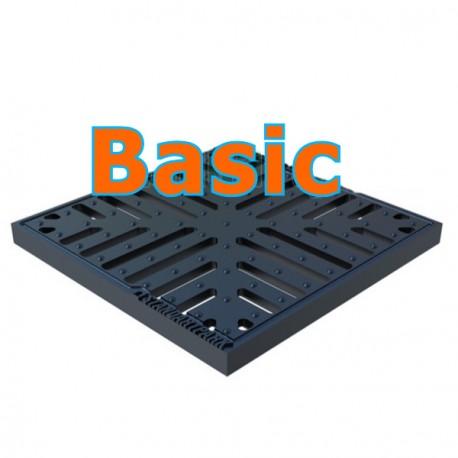 Решетка чугунная (снежинка) Basic к дождеприемнику 300х300