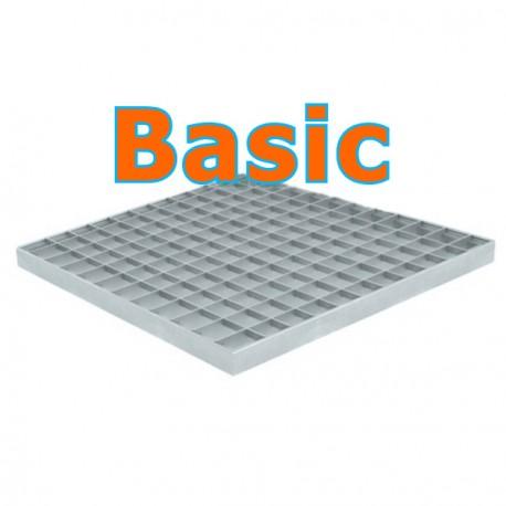 Решетка стальная ячеистая Basic к дождеприемнику 400х400
