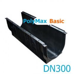 Лоток водоотводный пластиковый PolyMax Basic DN300 H354
