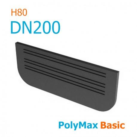 Заглушка пластиковая для лотков PolyMax DN200 H80