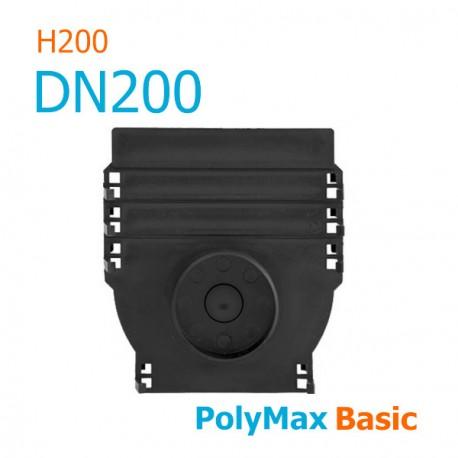 Заглушка пластиковая для лотков PolyMax DN200 H200