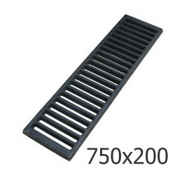 Чугунная решетка 750х200 водоприемная, кл. C