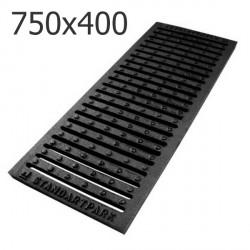 Чугунная решетка 750х400 ливневая, кл. C
