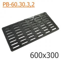 Чугунная решетка 600х300 водоприемная, кл. C