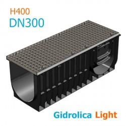 Gidrolica Light DN300 H400 с решеткой стальной, кл.A15