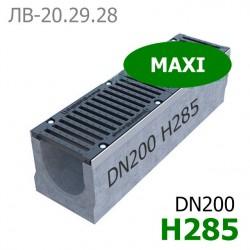 Схема лотка Maxi DN200 H285