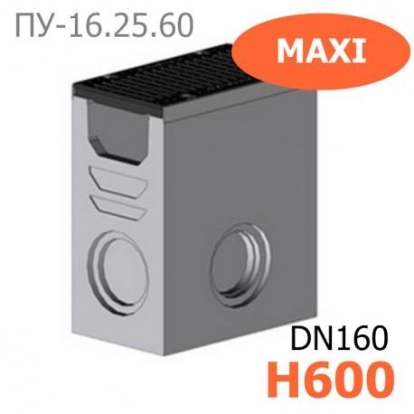 Комплект: пескоуловитель Maxi-16.25.60-Б бетонный с решеткой водоприемной чугунной ВЧ, кл. E (щелевой)