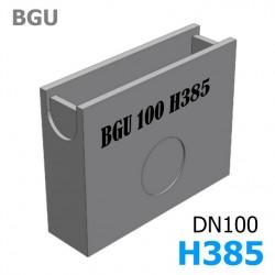 BGU Пескоуловитель DN100, ширина 140, 500/140/385