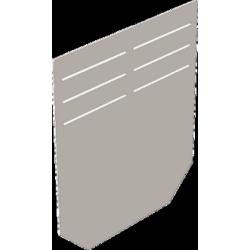 Торцевая стальная заглушка для водоотводных бетонных лотков DN150 серии BGF/BGU
