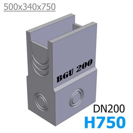 BGU пескоуловитель DN200 500/340/750, односекционный (бетонный)