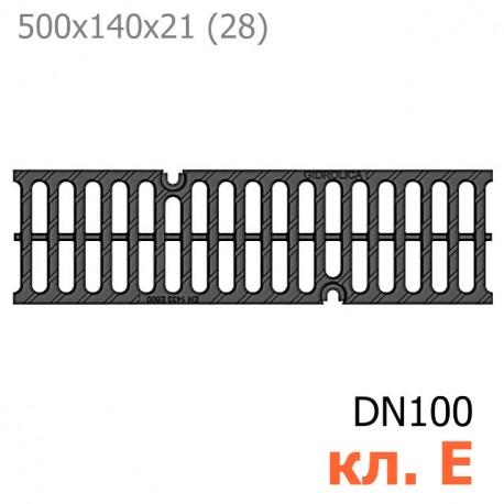 Решетка водоприемная Gidrolica Super РВ-10.14.50 щелевая чугунная ВЧ, кл. E600