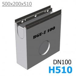 BGU-Z Пескоуловитель DN100, с оцинкованной насадкой (бетонный)