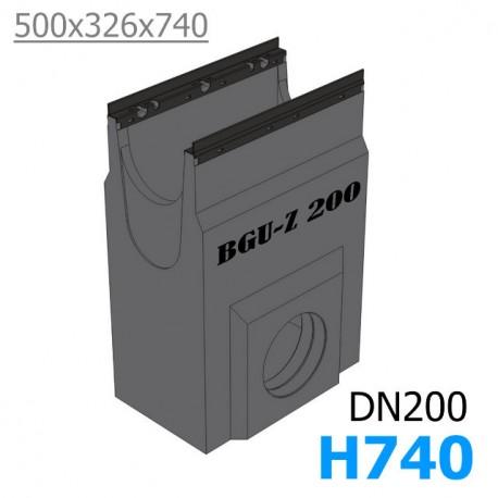 BGU-Z Пескоуловитель DN200, с оцинкованной насадкой (бетонный)
