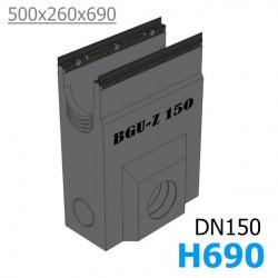 BGU-Z Пескоуловитель DN150, с оцинкованной насадкой (бетонный)