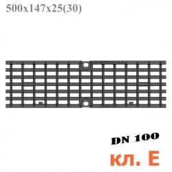 Решетка чугунная DN100 500/147/25, кл. E