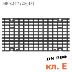 Решетка чугунная ячеистая DN200, 500/247/25, 27/13, кл. E600