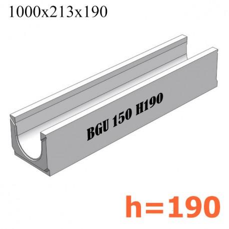 BGU Универсальный лоток DN150, № 0, без уклона (бетонный)