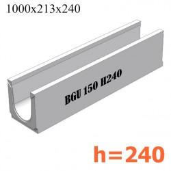 BGU Универсальный лоток DN150, № 10-0, без уклона (бетонный)