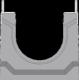 Вид слева: BGU-Z Универсальный лоток DN100, № 0, с оцинкованной насадкой