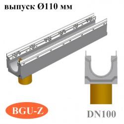 Лотки бетонные BGU-Z DN100 с вертикальным водосливом