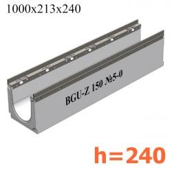 Лоток BGU-Z DN150 H240, № 5-0