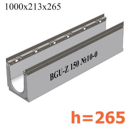 BGU-Z Универсальный лоток DN150, № 10-0, с оцинкованной насадкой, без уклона