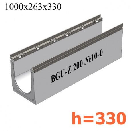 BGU-Z Универсальный лоток DN200, № 10-0, с оцинкованной насадкой, без уклона