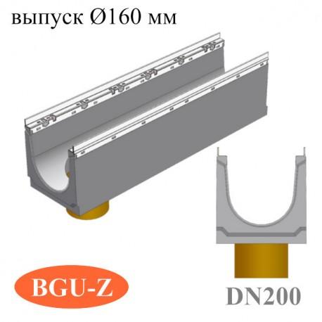 Лотки бетонные BGU-Z DN200 с вертикальным водосливом