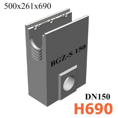 BGZ-S пескоуловитель для тяжелых нагрузок DN 150, с чугунной насадкой