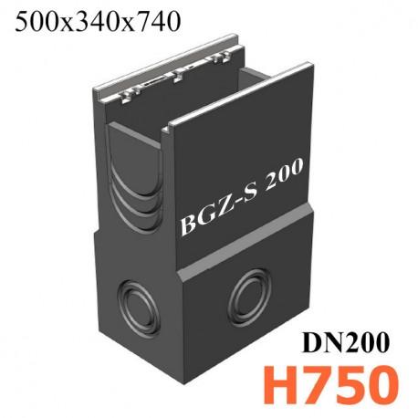 BGZ-S пескоуловитель DN200 500/340/750, односекционный, с чугунной насадкой
