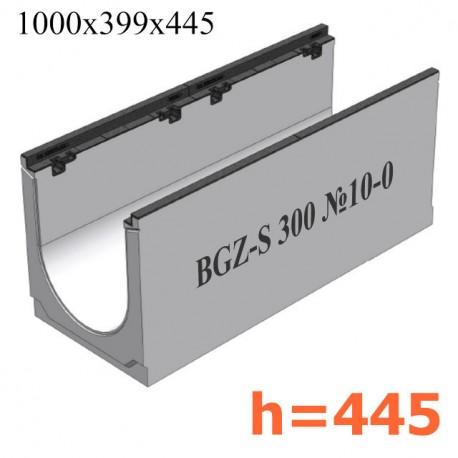 BGZ-S лоток для тяжелых нагрузок DN300, № 10-0, с чугунной насадкой, без уклона