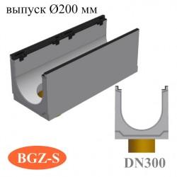 Модель: Лотки бетонные BGZ-S DN300 с вертикальным водосливом
