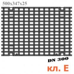 Чугунная решетка DN300, 500/347/25, кл. E600