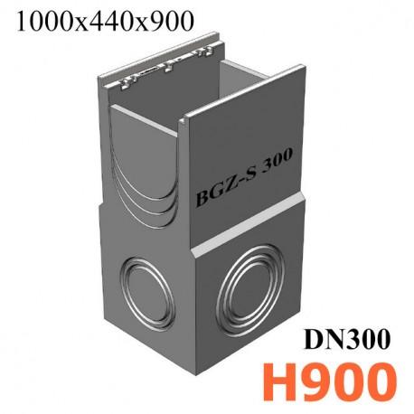 BGZ-S пескоуловитель DN300 500/440/900, односекционный, с чугунной насадкой
