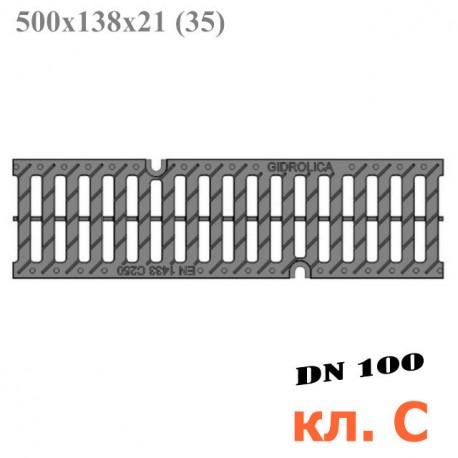 Пластиковая решетка Gidrolica Pro РВ-10.13,5.50