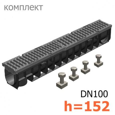 Gidrolica Pro DN100 H152 с пластиковой решеткой, кл.C
