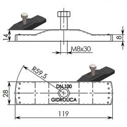 DN100: Крепеж Gidrolica для лотка водоотводного пластикового