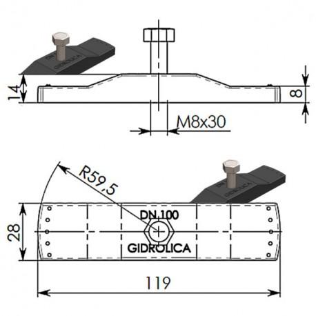 Крепеж для решеток DN100 пластиковый