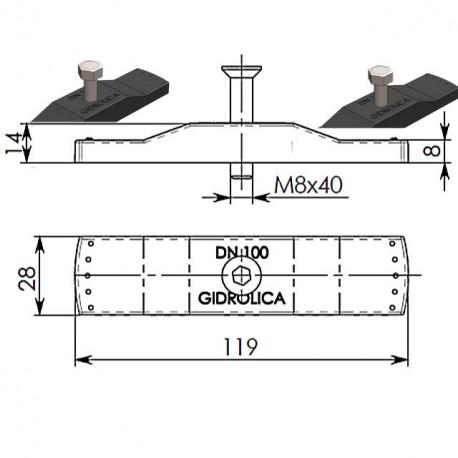 Крепеж для решеток DN100 пластиковый 108/1