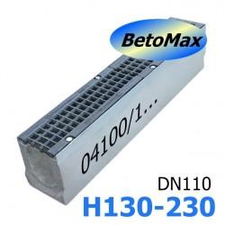 Лоток BetoMax ЛВ-11.19.23-Б-У01 бетонный с уклоном с решёткой чугунной