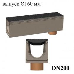 Модель: Лоток бетонный BetoMax DN200 с вертикальным водоотводом