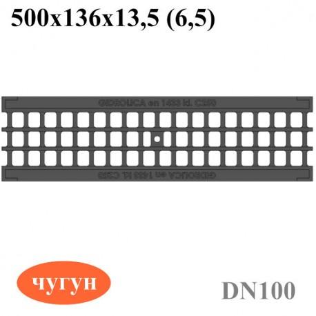 Решетка водоприемная РВ-10.13,6.50 - ячеистая чугунная