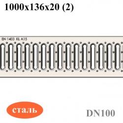 Решетка  водоприемная РВ-10.13,6.100 - стальная оцинкованная