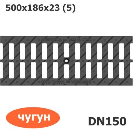 Решетка водоприемная Gidrolica Standart РВ-15.18,6.50 щелевая чугунная ВЧ, кл. С250