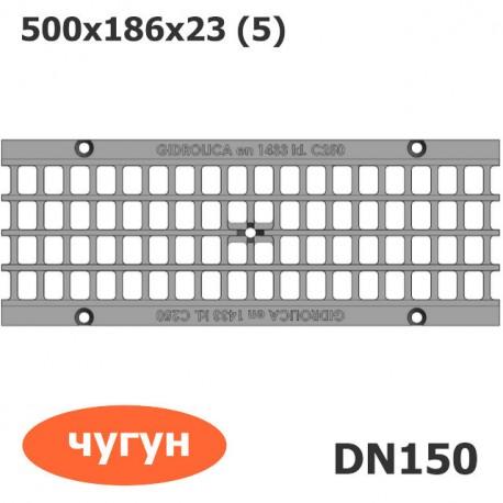 Решетка водоприемная Gidrolica Standart РВ-15.18,6.50 ячеистая чугунная ВЧ, кл. C250