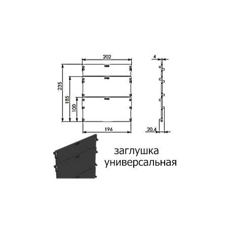 DN150 заглушка пластиковая Gidrolica Standart